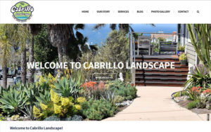 Landscape website designer and developer Cabrillo Landscape