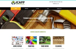California web design and website development for a handyman company. JCapp Handyman services in Temecula