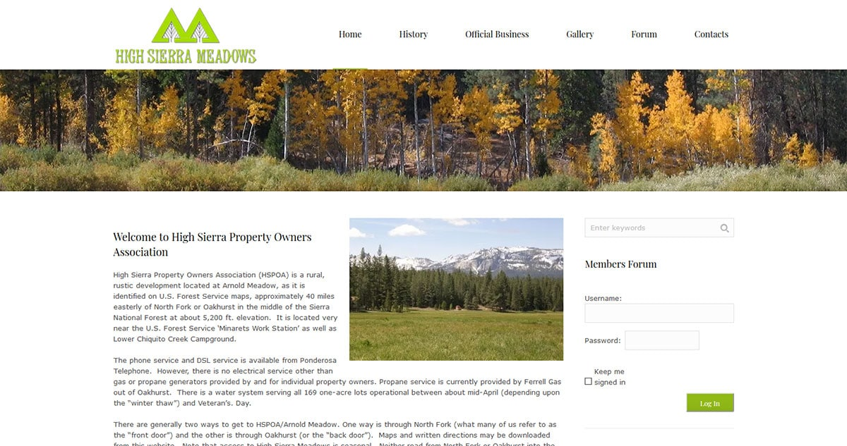 High Sierra Property Owners Association