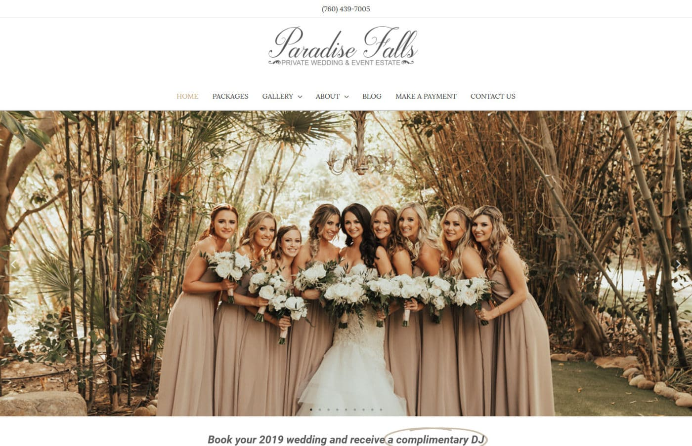 Paradise Falls Weddings in Oceanside CA